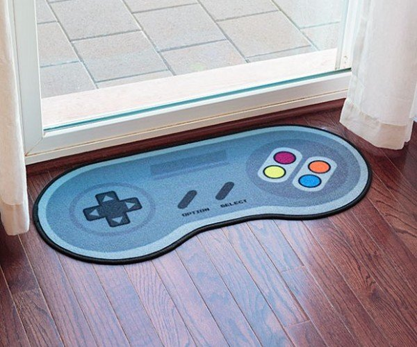 "16-Bit Game Controller Doormat: Press ""A"" to Rug"