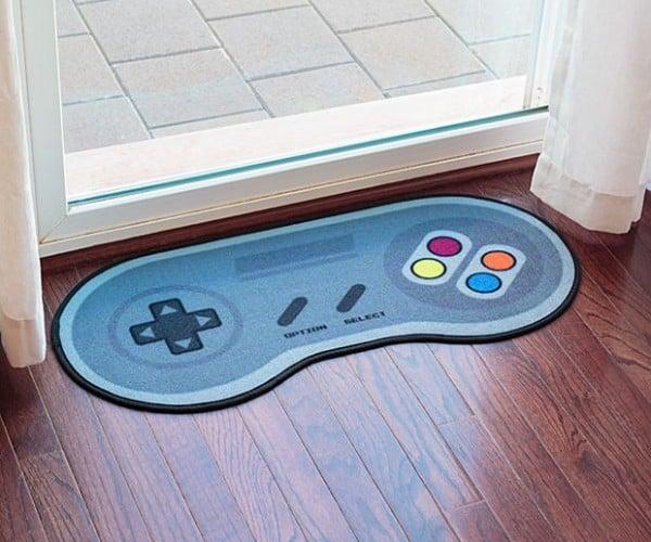 "16-Bit Game Controller Doormat: Press ""A"" to Rug"