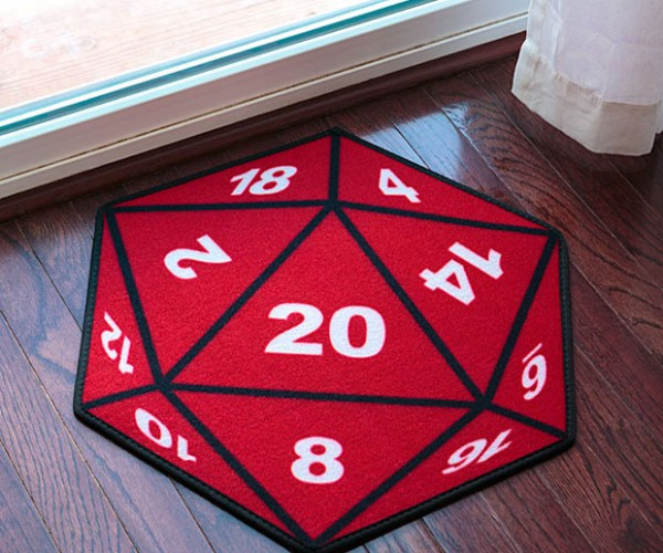 D20 Critical Hit Door Mat Has a 1:20 Chance of Making you Fall