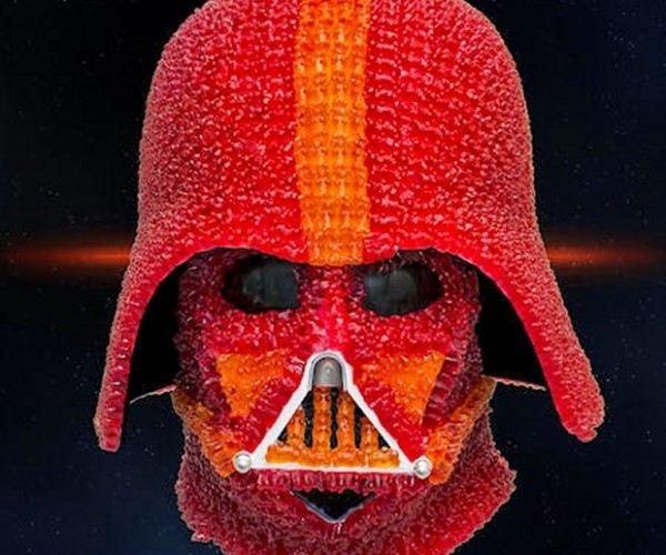 Darth Vader Helmet Made of Gummy Bears