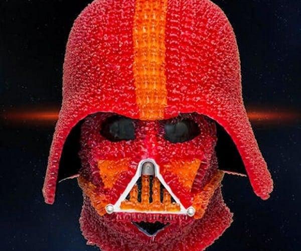 Darth Vader Helmet Made of Gummy Bears