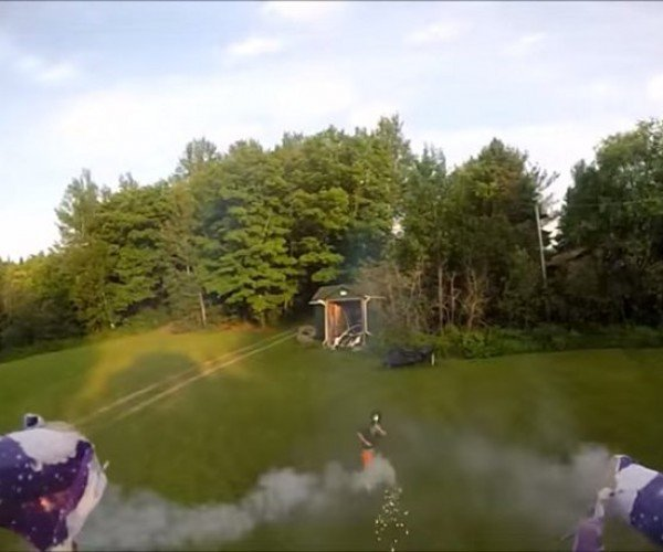 This Drone Is Armed with Roman Candles