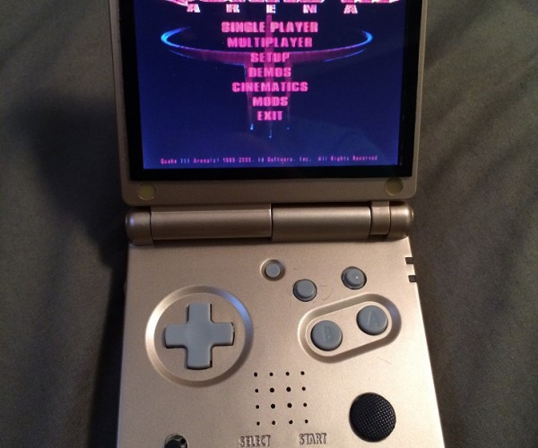 Retro Console Emulator in a Game Boy Advance SP Case: Pi SP