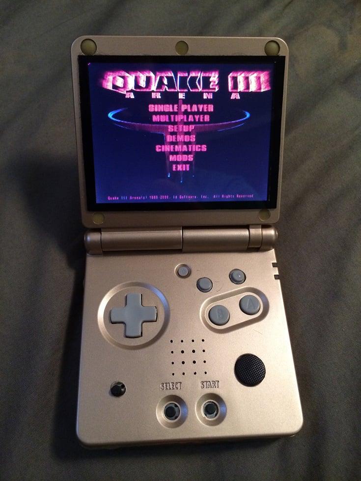 Retro console emulator in a game boy advance sp case pi sp technabob - Retro game emulator console ...