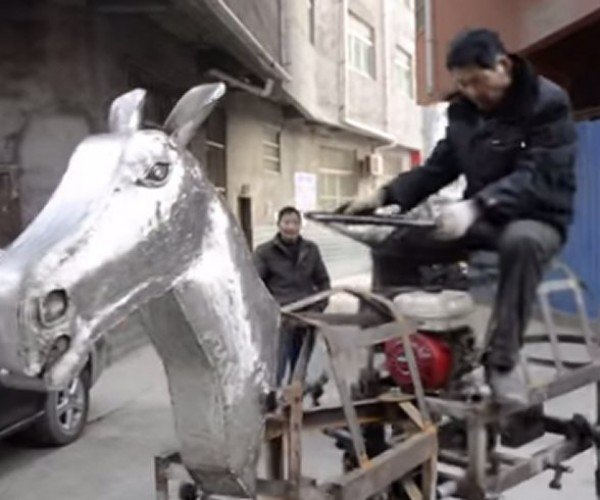 Guy Builds Gas-powered Horse, Rides It