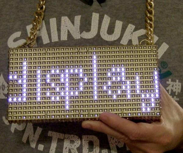 DIY Oversized LED Matrix Necklace: iBling