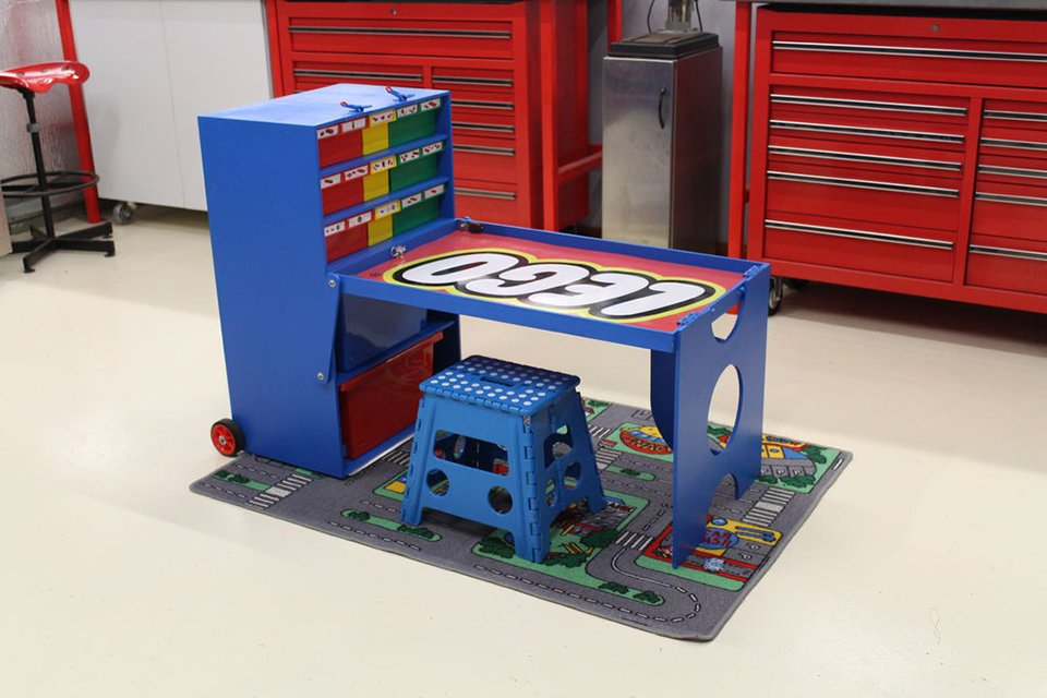 diy lego creation station imagination on wheels technabob. Black Bedroom Furniture Sets. Home Design Ideas