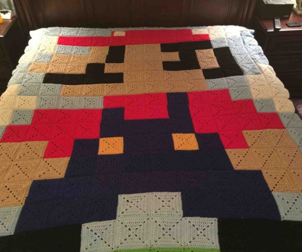 This 8-bit Super Mario Quilt Was Made by a Super Grandmother