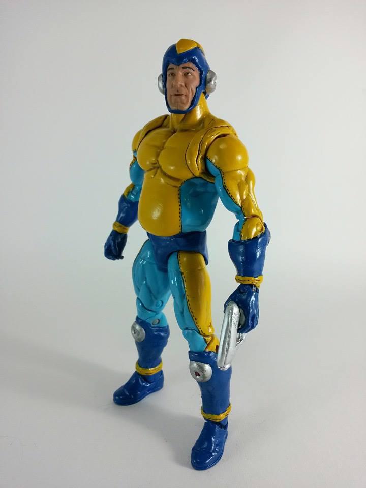Coolest Man Toys : Mega man bad box art custom action figure belly