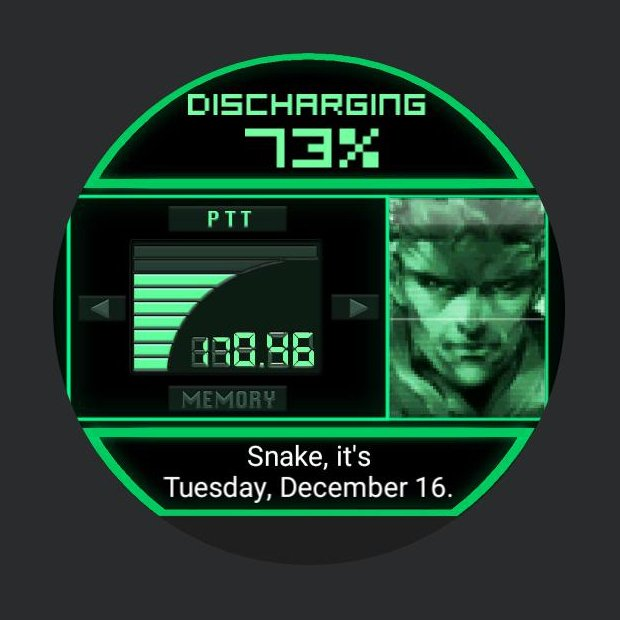 Metal Gear Solid Codec Smartwatch Face: Moto 360 by Mei Ling