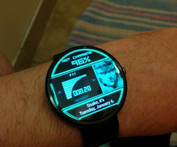 Metal Gear Solid Codec Smartwatch Face: Moto 360 by Mei Ling