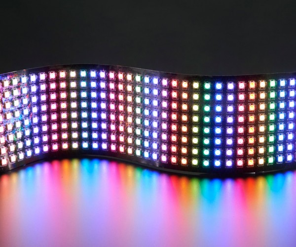 NeoPixel Flexible RGB LED Matrix: Curves & Colors
