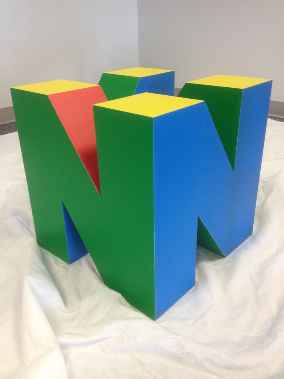 nintendo 64 coffee table base: insert glass top - technabob