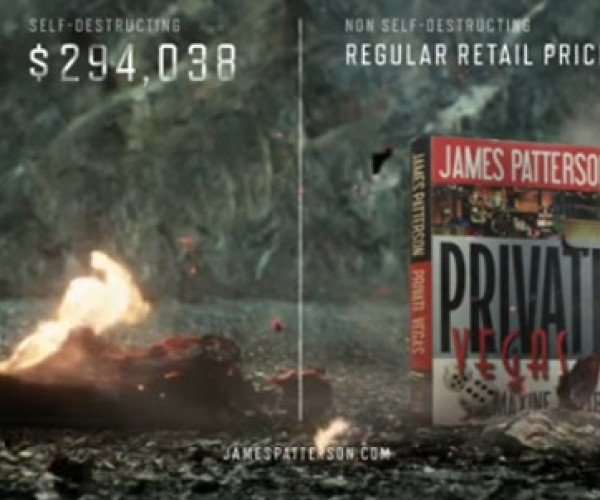 James Patterson Offers $294,038 Self-destructing Book