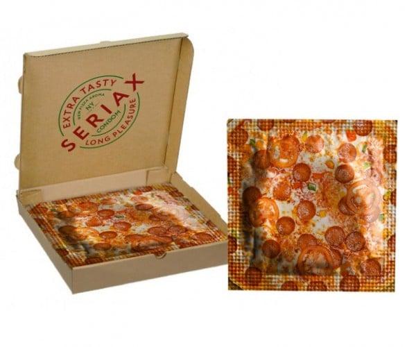 Pizza Condoms Come in a Pizza Box: It's Not Delivery, It's a Condom
