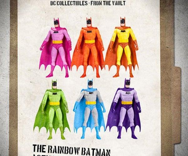 Rainbow Batman Action Figure Set: The ROYGBIV Knight