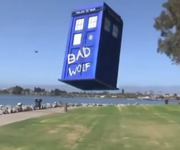 This TARDIS Actually Flies