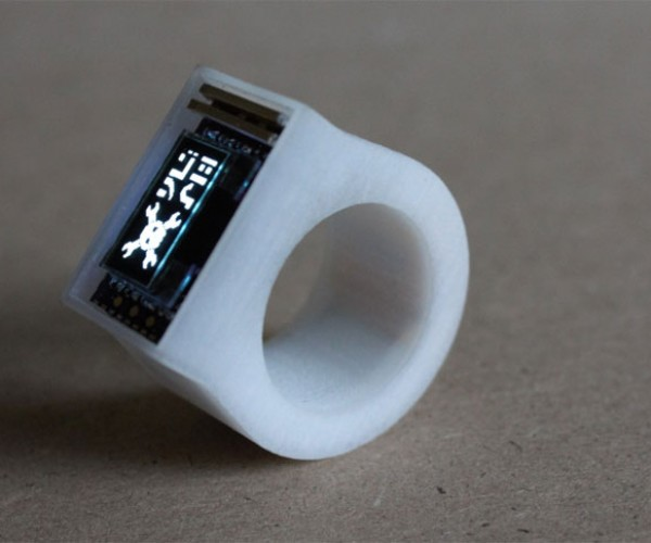 "Geek Makes 3D-Printed Bluetooth ""Smart Ring"""