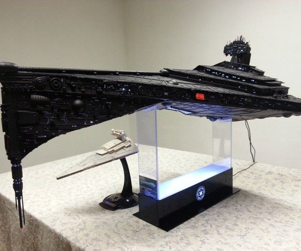 This Homemade Super Star Destroyer Has Lights and Sound, Our Hearts