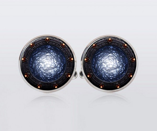 Stargate Cufflinks: Travel with the Flick of Your Wrist