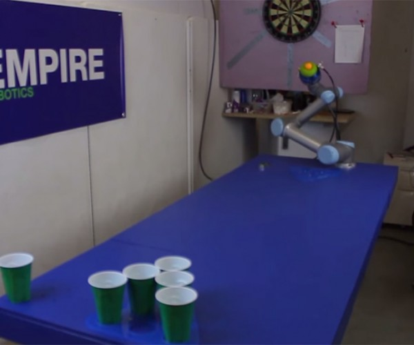 Robot Hand Masters Beer Pong: Because It Can't Handle the Consequences
