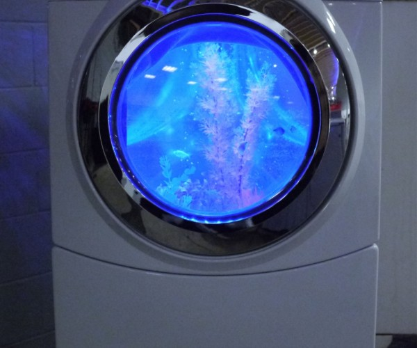 Front-load Washer Aquarium Is Home to the World's Cleanest Fish