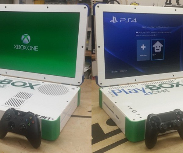 Xbox One & PS4 Combo Laptop Case Mod: The PlayBox