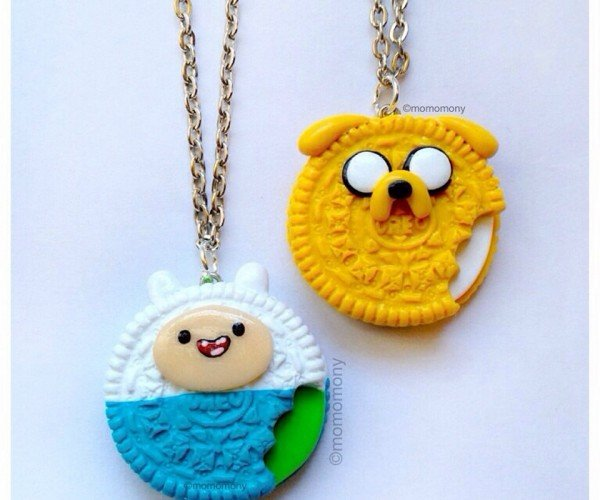 Adventure Time Oreo Cookie Necklaces are Truly Wonderfilled