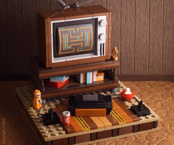 LEGO Atari 2600 & TV Diorama: My Old Basement