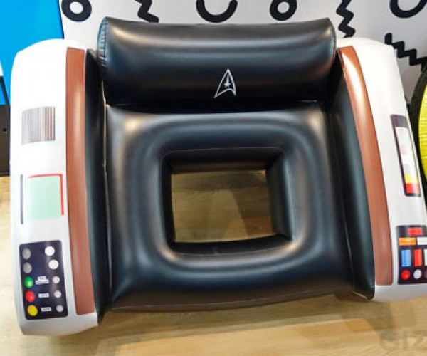Star Trek Captain's Chair Pool Float Begs for a Pool Party… Make it So