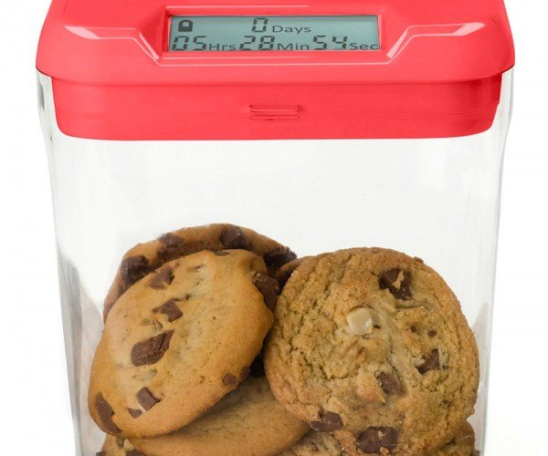 Time Locking Kitchen Container Keeps Cookie Monsters Away from Cookies