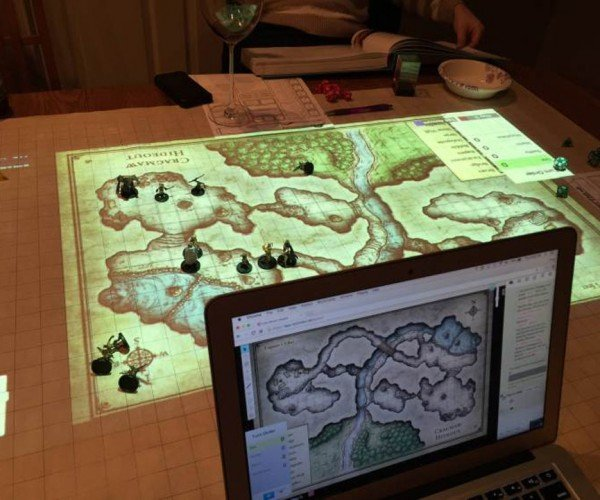 Dungeon Master Uses a Projector for Digital Maps of Awesomeness