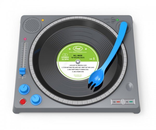 Dinner DJ Turntable Plate: Stop Scratching at Your Food, Kids!