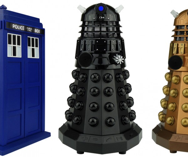 Doctor Who TARDIS & Dalek Bluetooth Speakers: EXHILARATE!