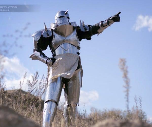 Fullmetal Alchemist Alphonse Armor Transmutes Money to Steel and Leather