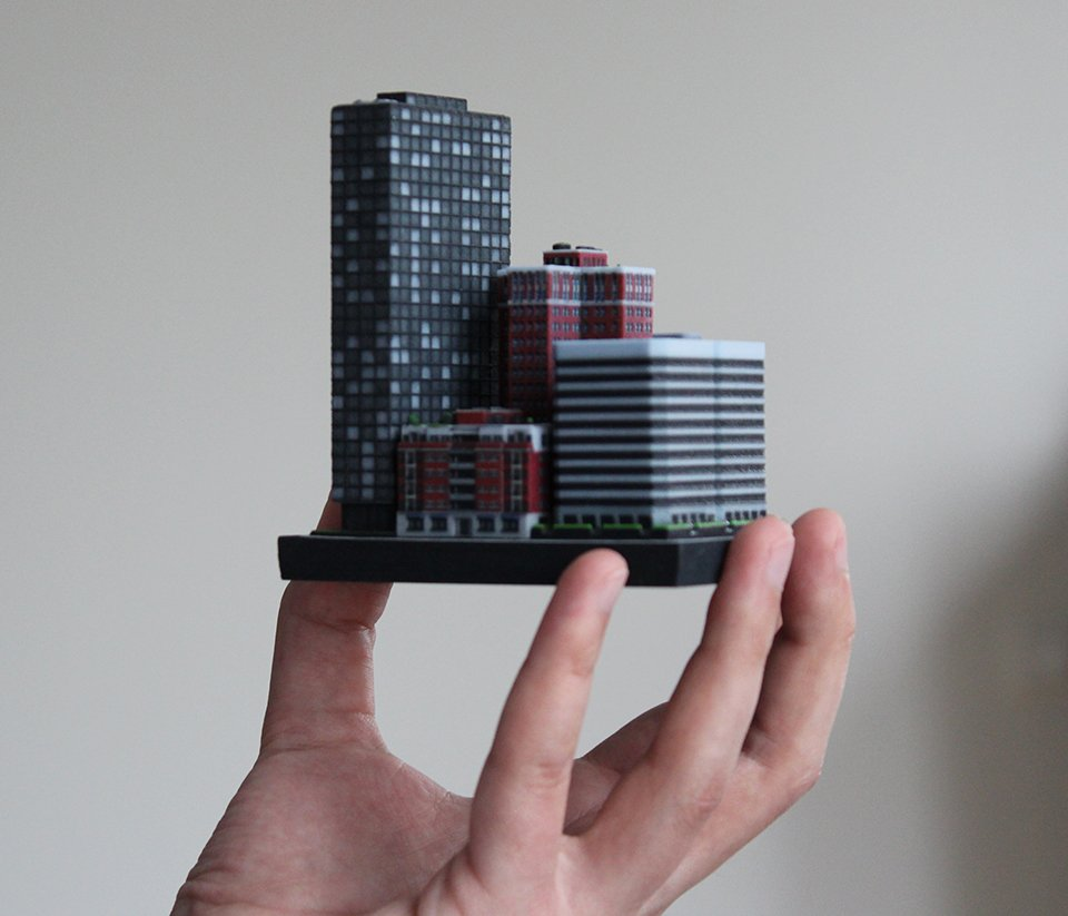 3D Printed Miniature Buildings: Ittyblox