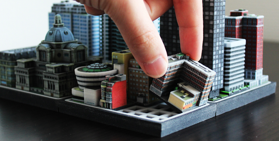 3d printed miniature buildings ittyblox Making models for 3d printing