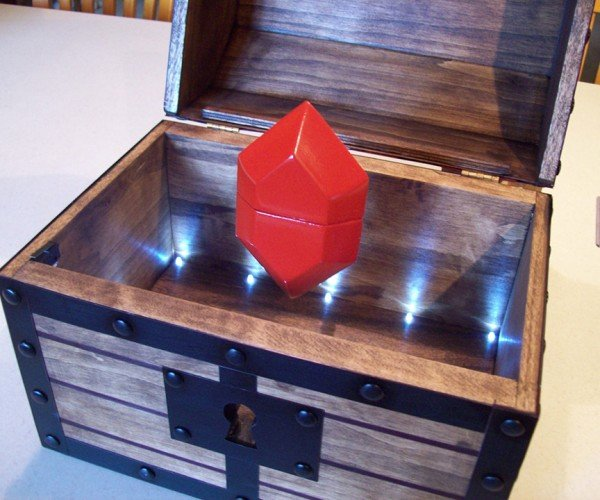 Legend of Zelda Floating Rupee Engagement Ring Treasure Chest: A Link to the Yes