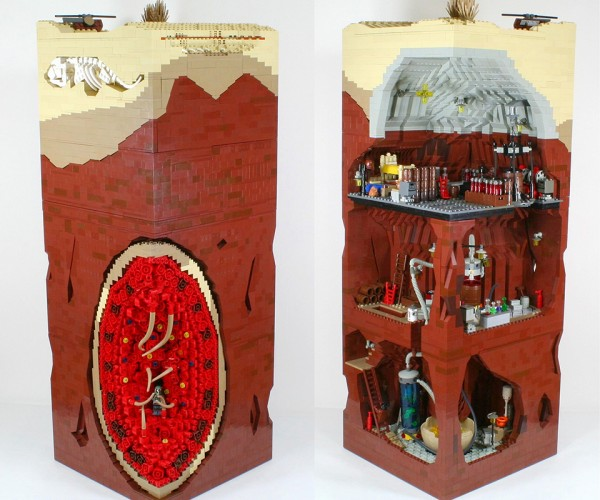 LEGO MOC Imagines Boba Fett's Escape from the Sarlacc: When Boba Met Jawas