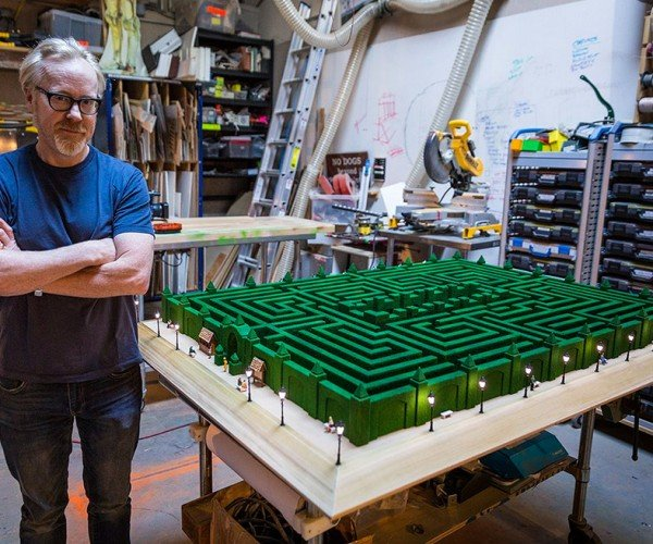 Adam Savage Builds Overlook Hotel Maze Model from The Shining