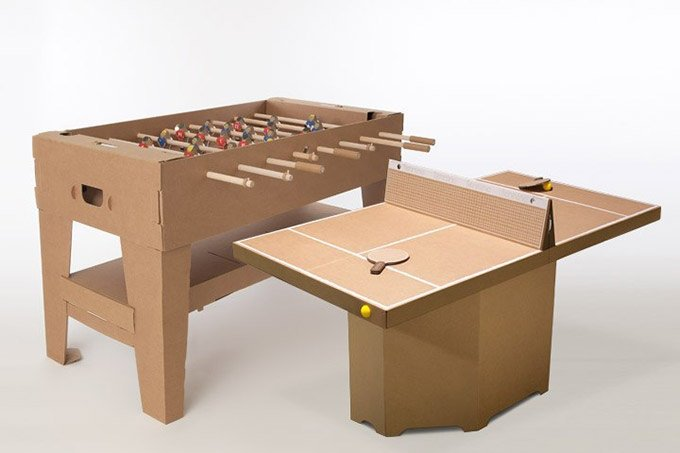 Cardboard Table Tennis Assembles In Seconds