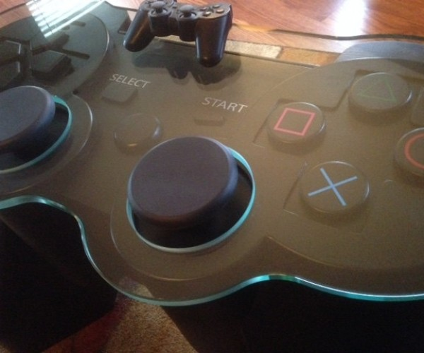 PlayStation Controller Table: Get Your Feet off My Start Button