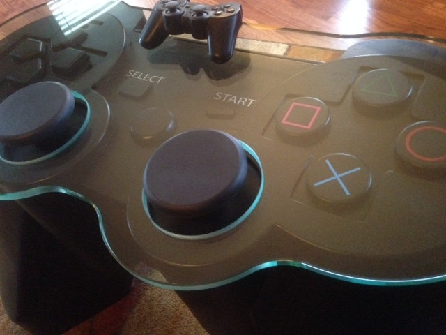 Playstation Controller Table Get Your Feet Off My Start Button Technabob