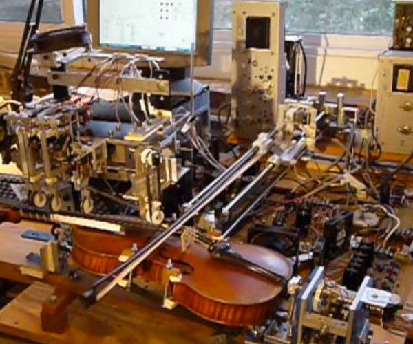 Violin-playing Robot: RO-BOW