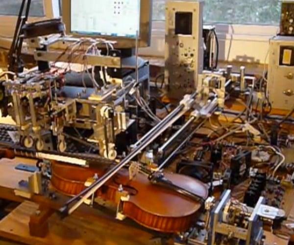 Violin-playing Robot: RO-BOW