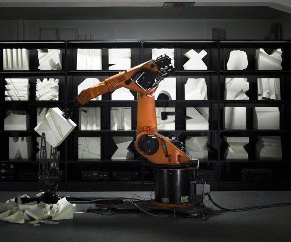 RoboChop Cuts Foam Blocks at the Whim of Website Visitors