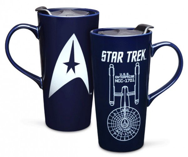 Star Trek Coffee Mug Reveals the Enterprise when Hot Liquid is Added