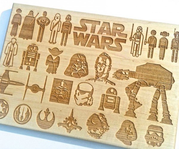 Star Wars Cutting Board: Force Slice and Dice