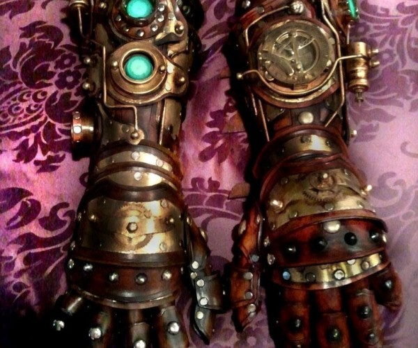 Iron Man Style Steampunk Gauntlets: From Tony Stark\