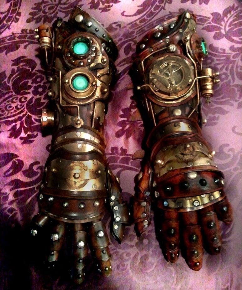 iron man style steampunk gauntlets from tony stark s arm
